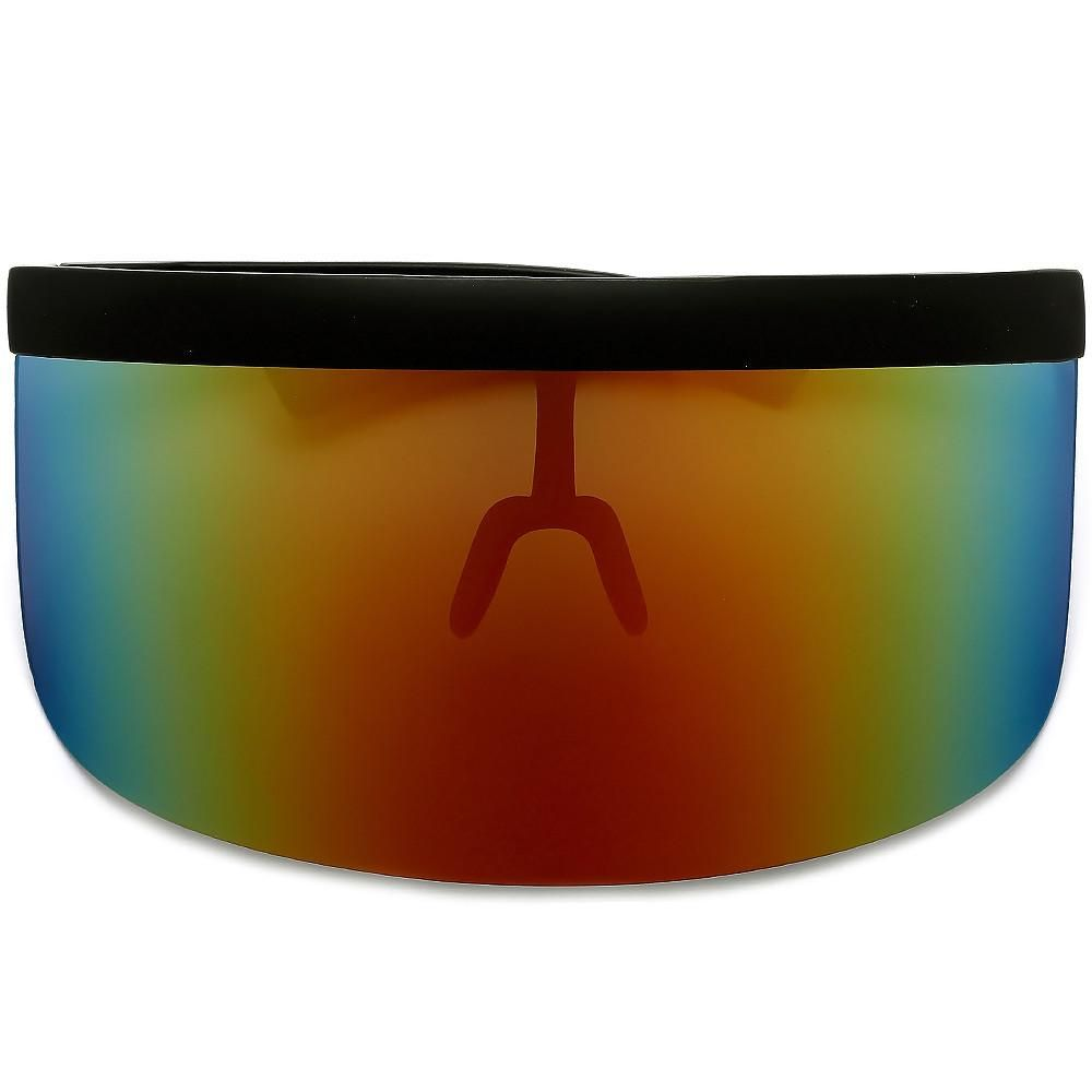 55ac977803b The Undercover Oversized Hip Hop Scene Shield Visor Sunglasses