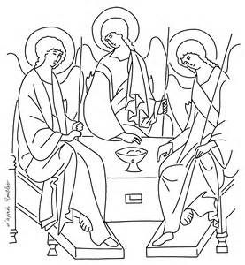 Holy Trinity Coloring Pages Sketch Template