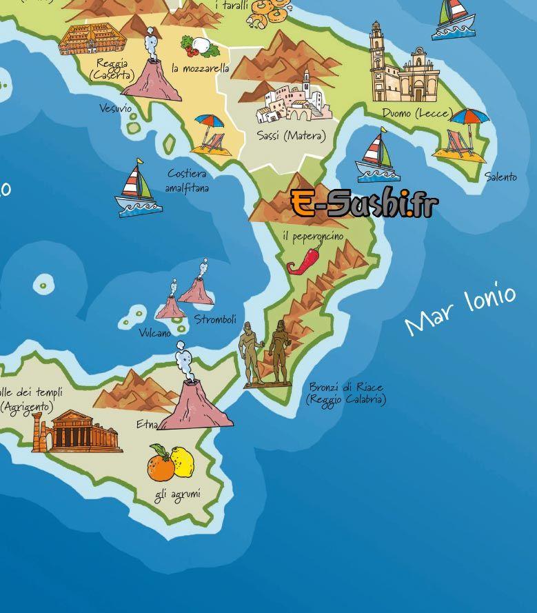 Carte Italie Tourisme.Carte Italie Touristique S E Affiche Italie Carte Italie