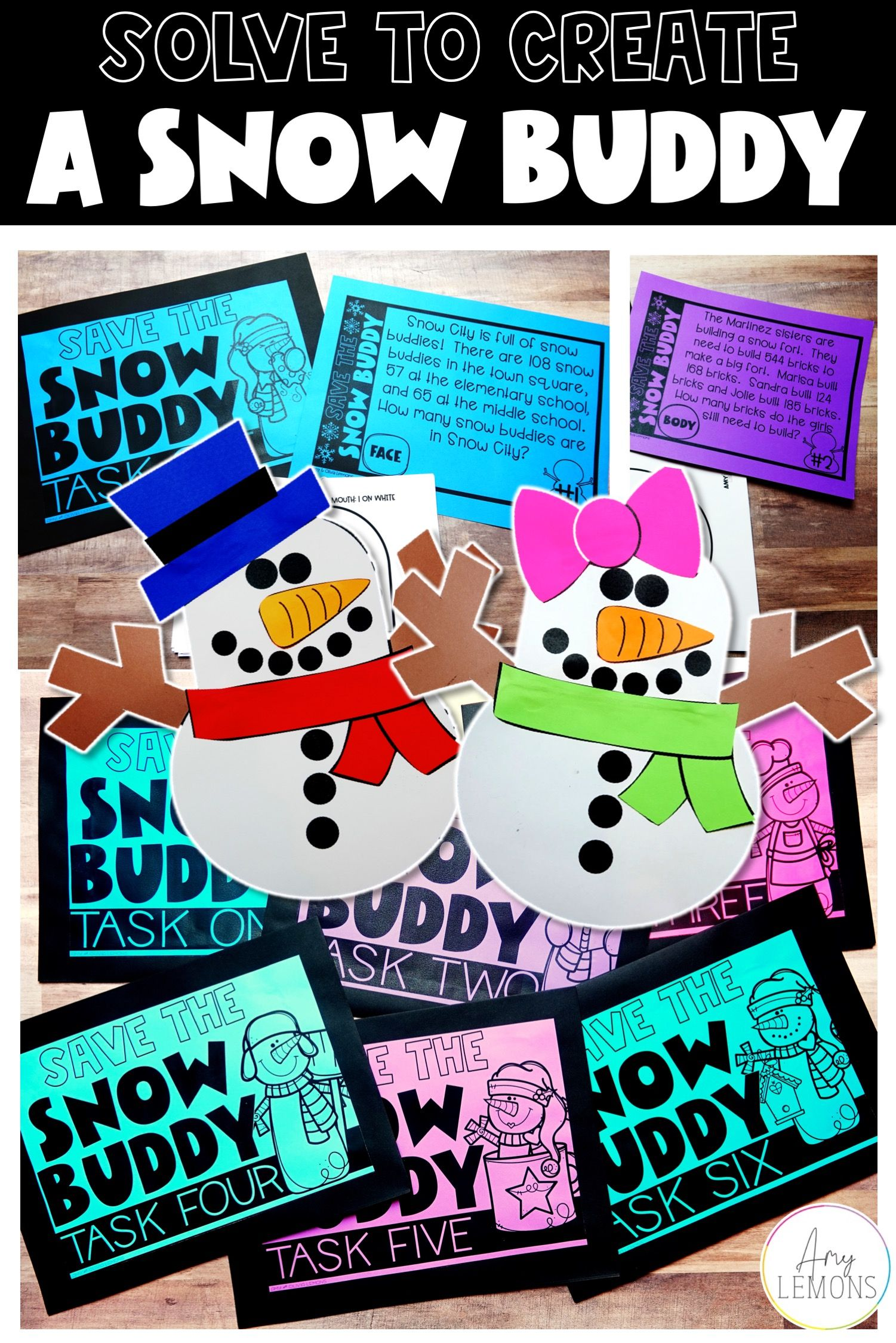 Solve To Create A Snowman In