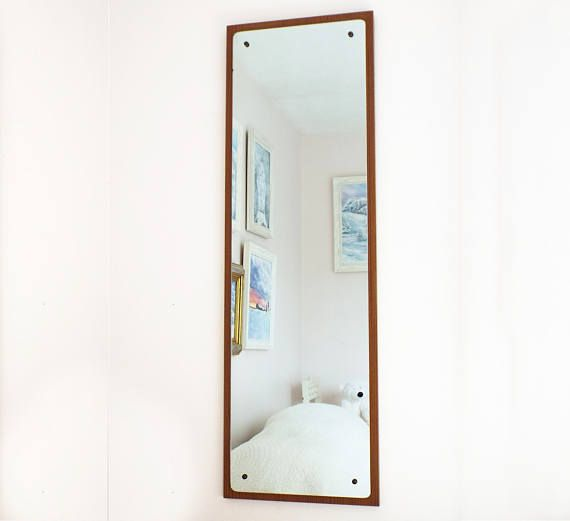 Modern Vintage Danish Teak Mid Century Modern Wall Mirror Antique Mirror Vint Lovely - Inspirational wall mirror New