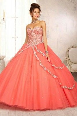 XV Dresses Color Coral