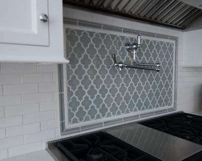 Image result for framed arabesque backsplash Inspirational - Style Of backsplash tile shapes Unique