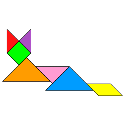 tangram cat lying tangram solution 9 providing teachers and pupils with tangram puzzle