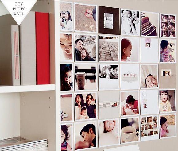 Pretty photo wall