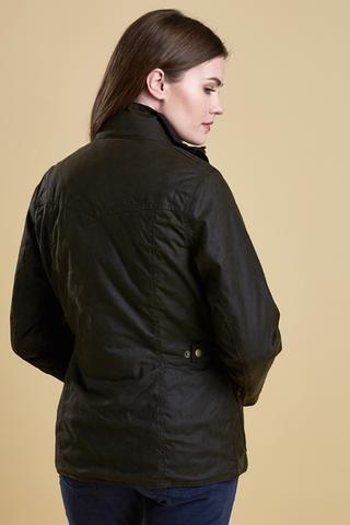 593f53a23f677 Barbour Ashley Ladies Wax Jacket in Olive LWX0765OL51