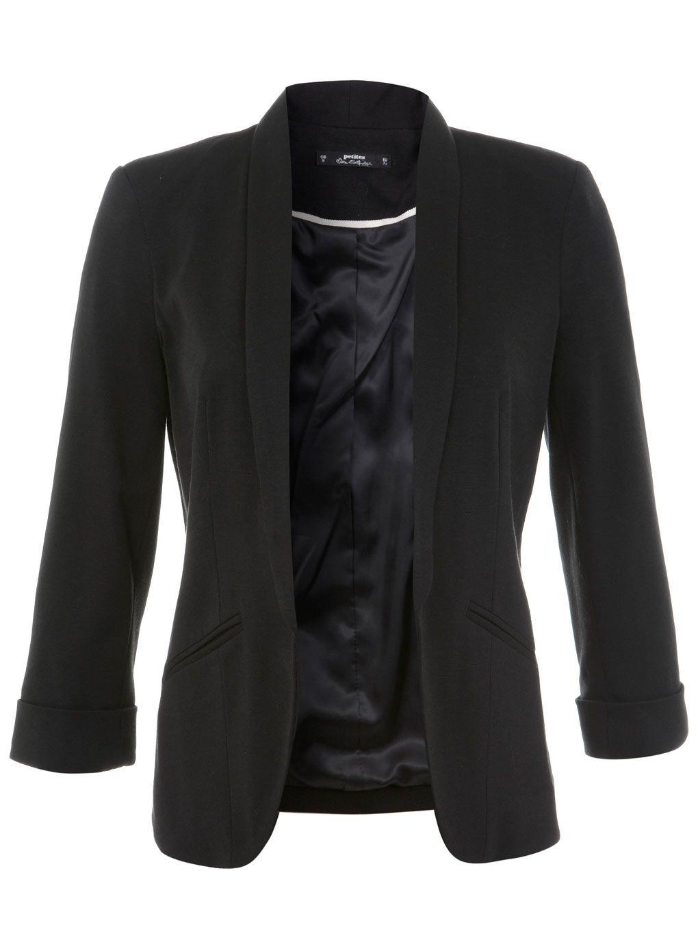 Petites Black Jersey Blazer
