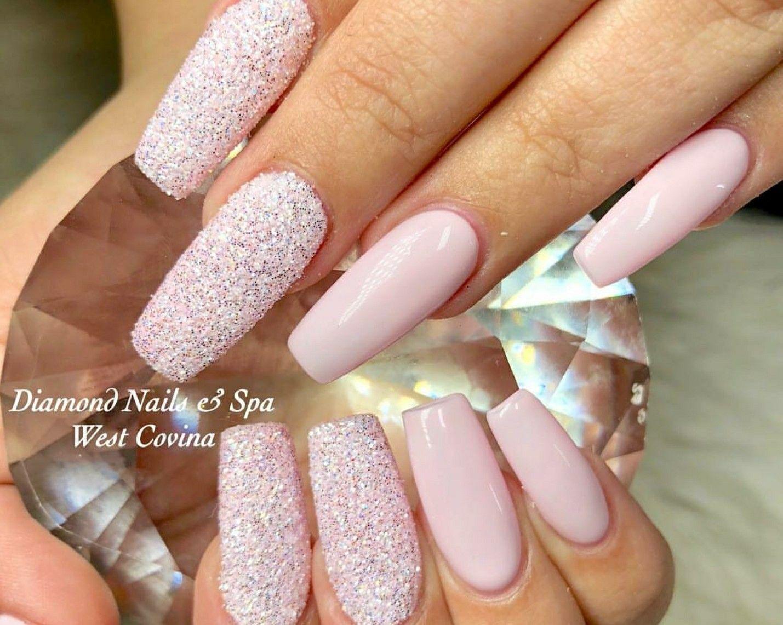 Pink Nails Sugar Effect Nails Acrylic Nails Square Nails Pink Nails Square Nails Nail Effects