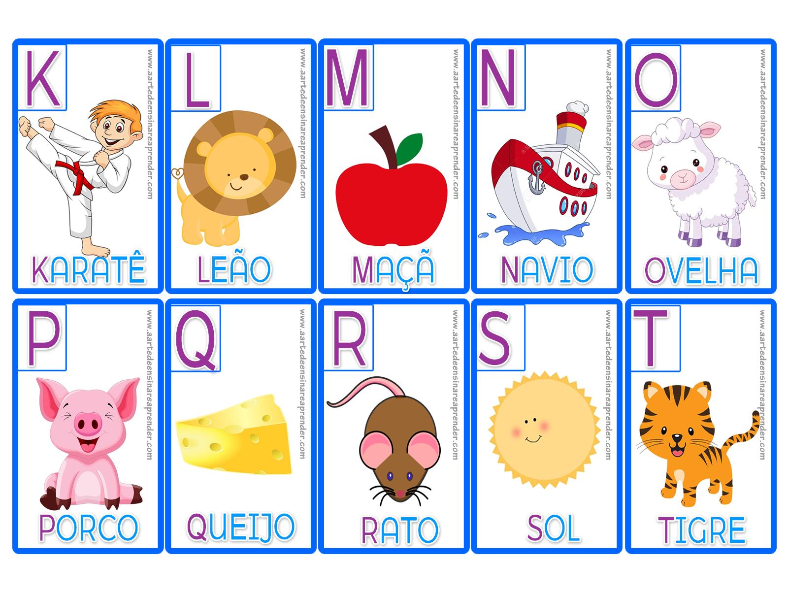 Jogo Da Mem Ria Alfabeto -> Desenhos Para Alfabeto Ilustrado