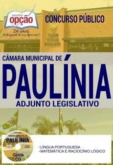 Apostila Concurso Camara De Paulinia 2017 Adjunto Legislativo