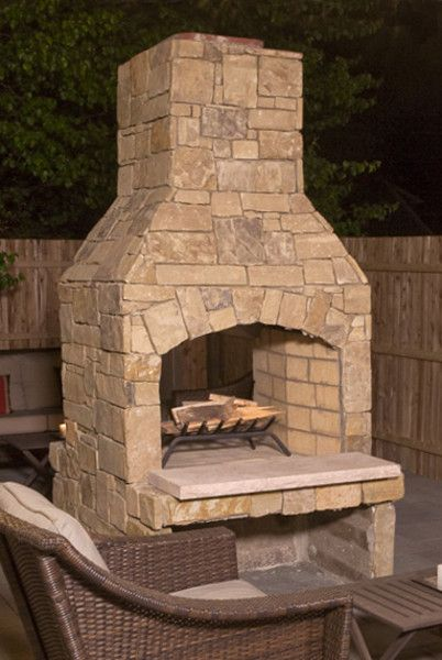 Standard Series 36 See Through Fireplace Kit Outdoor Stone