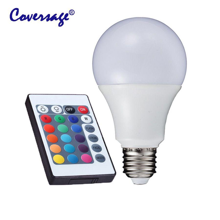 Coversage Rgb Led Bulbs Lamp E27 Led 220v Light Christmas Bedroom Corful Changeable Rgb Spotlight Led Bulb Remote Control Led Bulb Light Bulbs Light Bulb