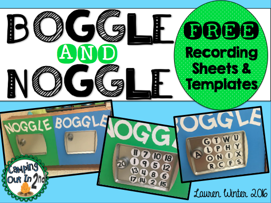 FREE Boggle and Noggle Recording Sheets. Great games for word work ...
