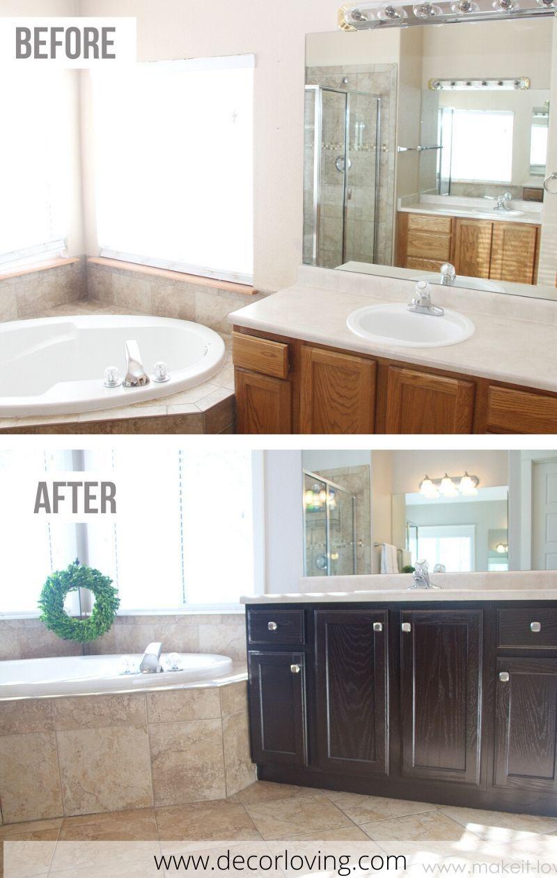 Bathroom Vanities Before And After Oak Bathroom Cabinets Bedroom Furniture Makeover Oak Kitchen Remodel