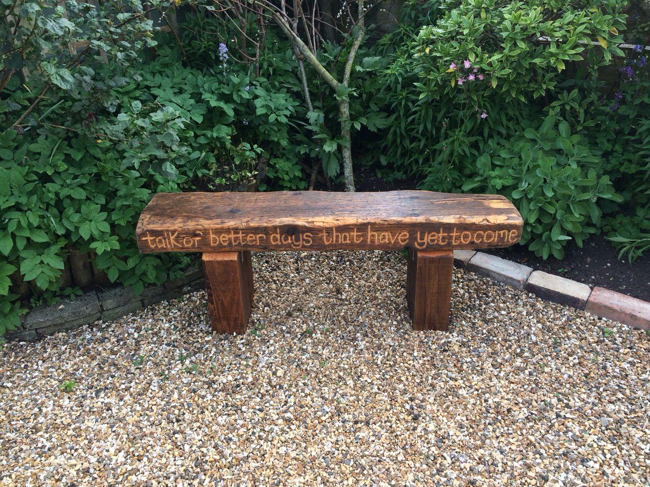 Railway Sleeper Bench Homemade Outdoor Garden Furniture Teak