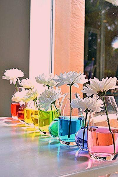 Photo of Tischdeko Idee für eine Gartenparty oder eine Sommerparty – oder einen Regenbog – Decorating Ideas
