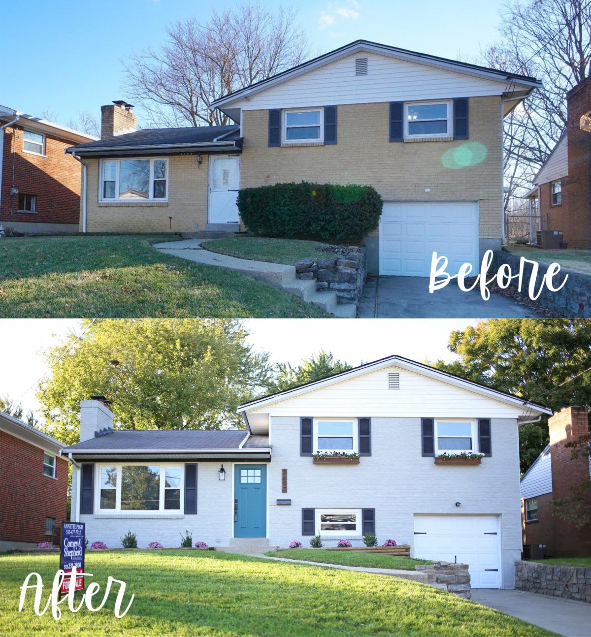 House Exterior Before After Hazelwood Homes Home Exterior Makeover House Exterior Split Level Remodel Exterior