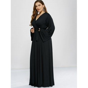 Plus Size Long Sleeve Modest Maxi Formal Dress Formal Dress