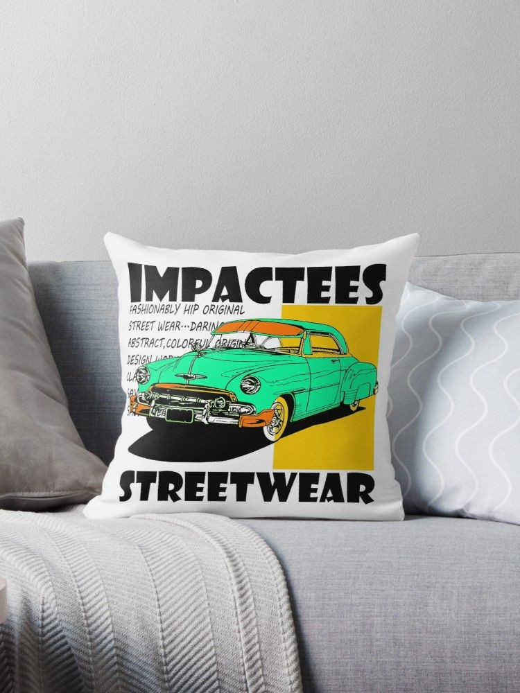 Impactees Streetwear Classic Car 5 Throw Pillow By Impactees Street Wear Modern Trend Classic Cars