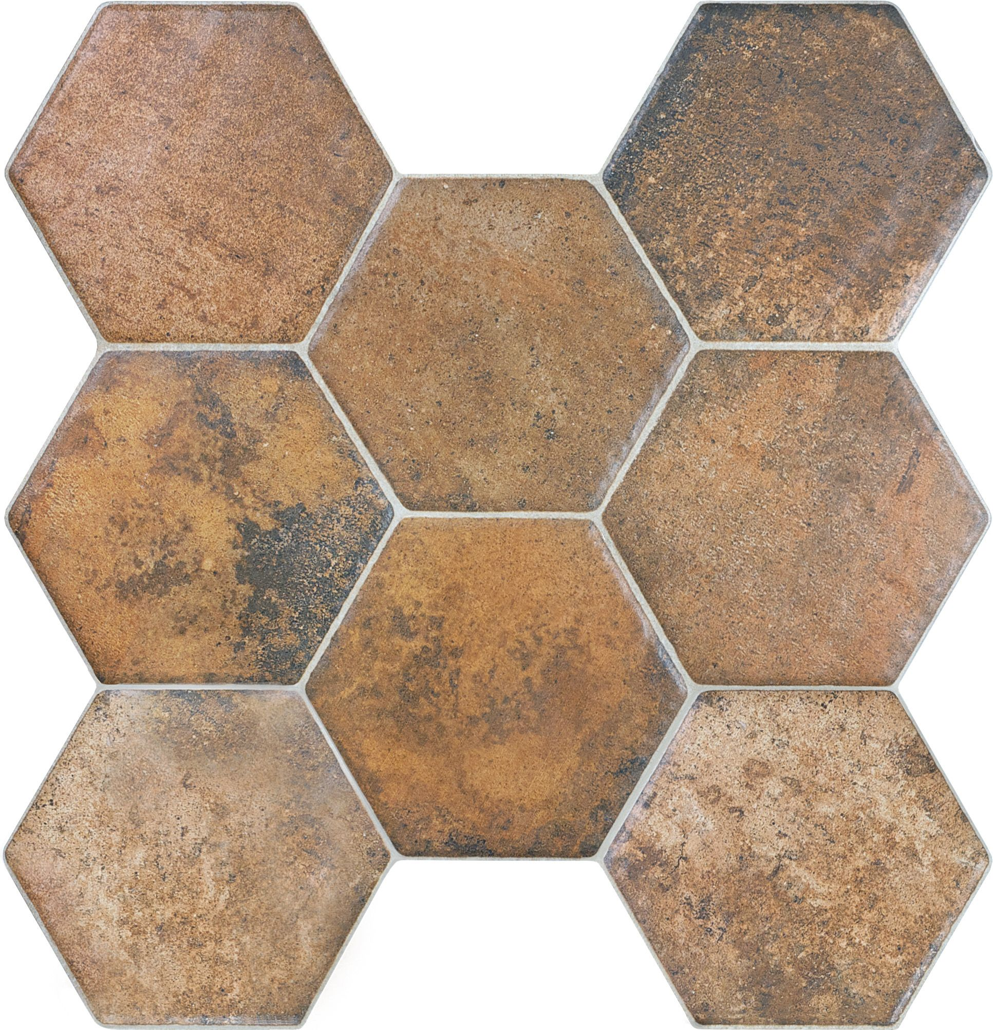 20 671 Caloca Terra Cotta Hexagon Porcelain