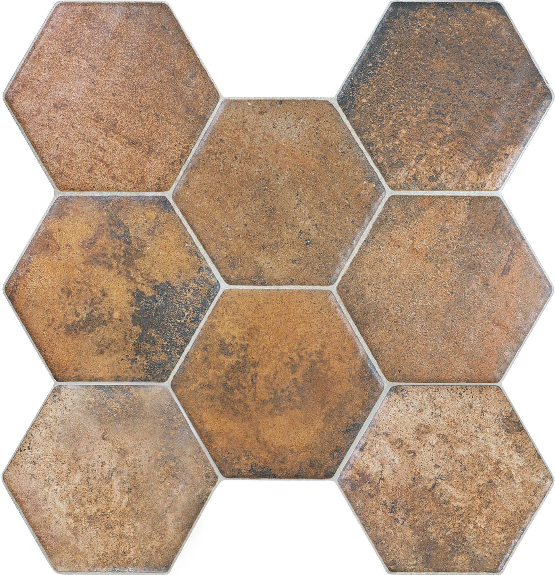 20 671 17 25 X18 Caloca Terra Cotta Hexagon Porcelain Tile Www