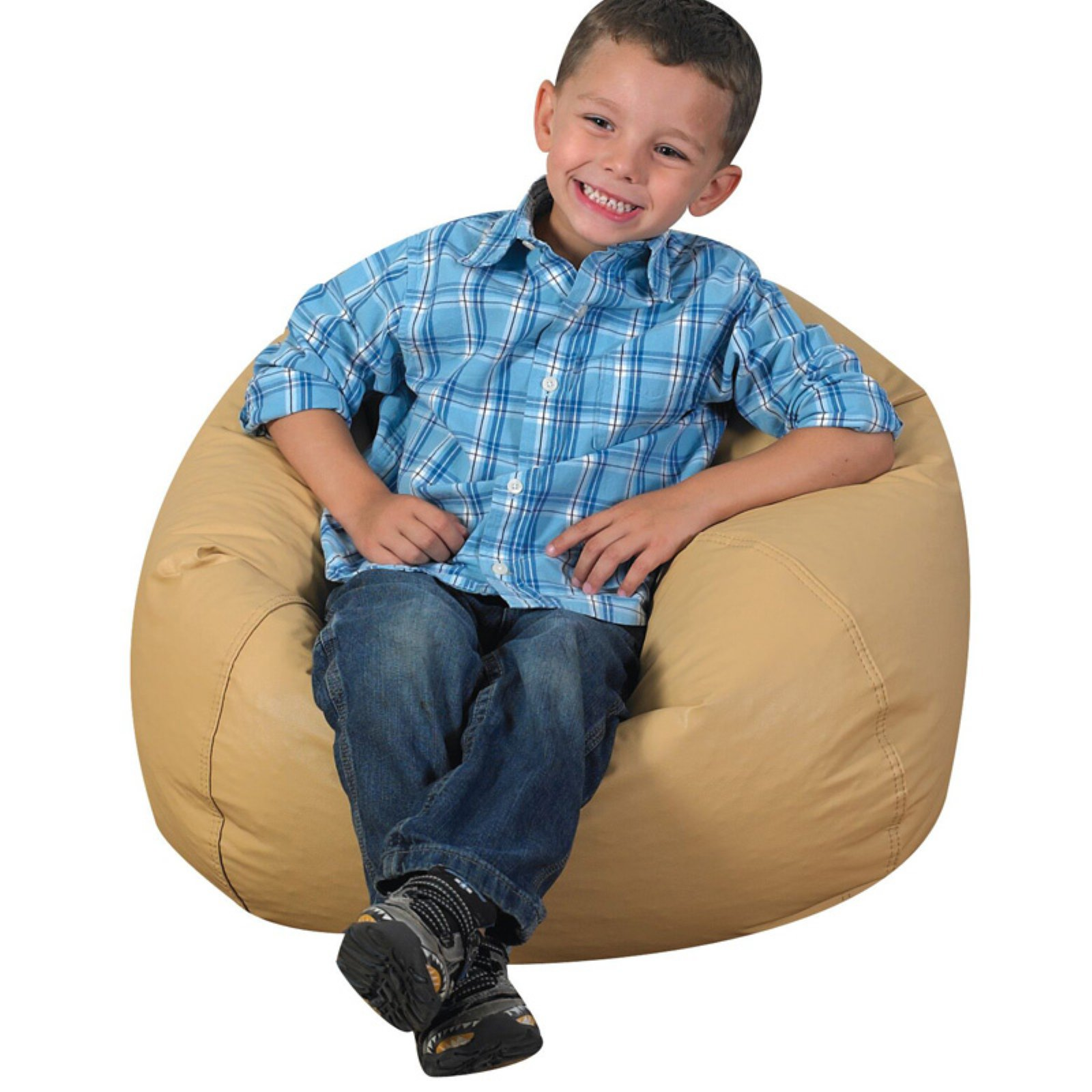 Magnificent Childrens Factory Round Bean Bag Almond In 2019 Products Alphanode Cool Chair Designs And Ideas Alphanodeonline