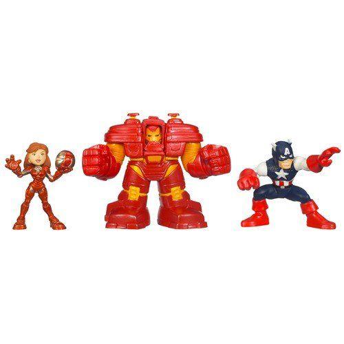 Iron Man 2 Marvel Super Hero Squad 3 Pack Iron Defense Squad Figures Hasbro Http Www Amazon Com Dp B003ug1upa Ref Cm Sw Marvel Superheroes Marvel Toys Marvel