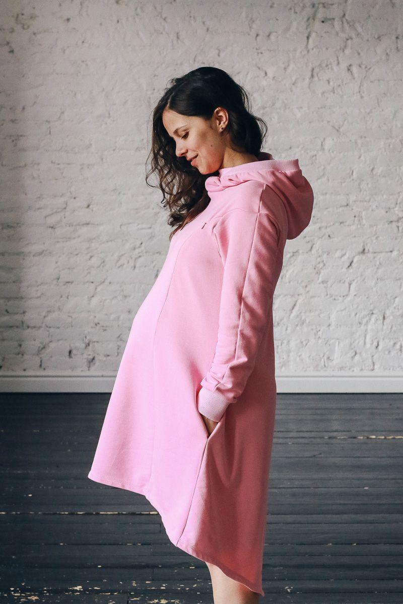 fe1f0a2d50cc433 Спортивное платье свитшот для беременных и кормящих мам Mysweetskirt ...