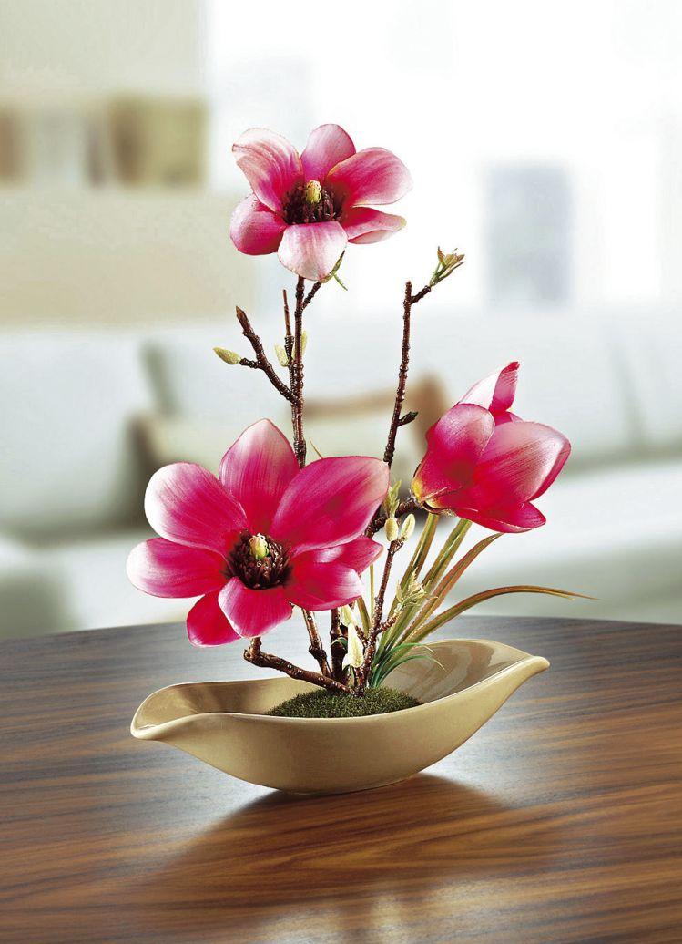 Magnolie In Schale Kunst Textilpflanzen