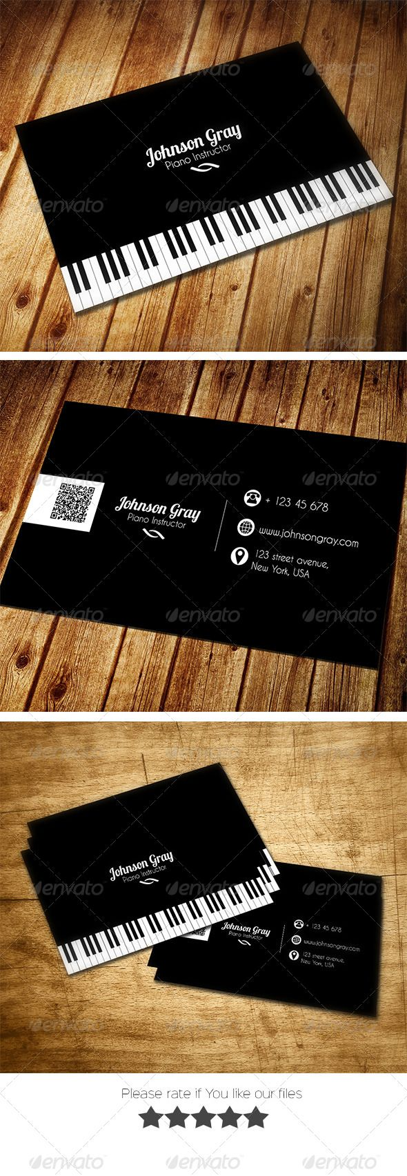 Musician Business Card Business Cards Musicians And Business