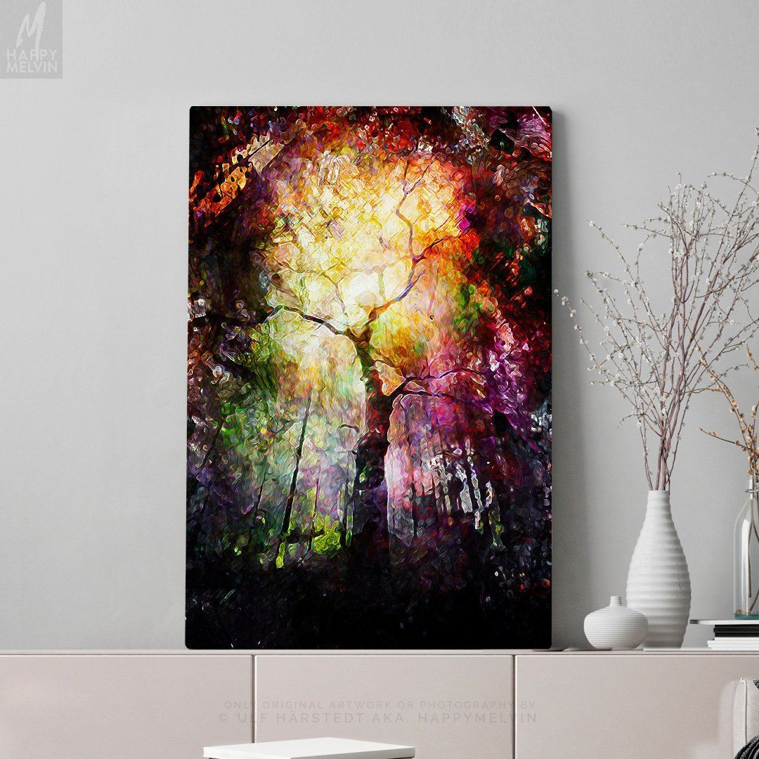 PICTURES ABSTRACT CANVAS WALL ART PRINTS COLOURFUL FOREST FLOWER DECORATION