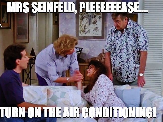 Image result for turn the air conditioner on ms seinfeld