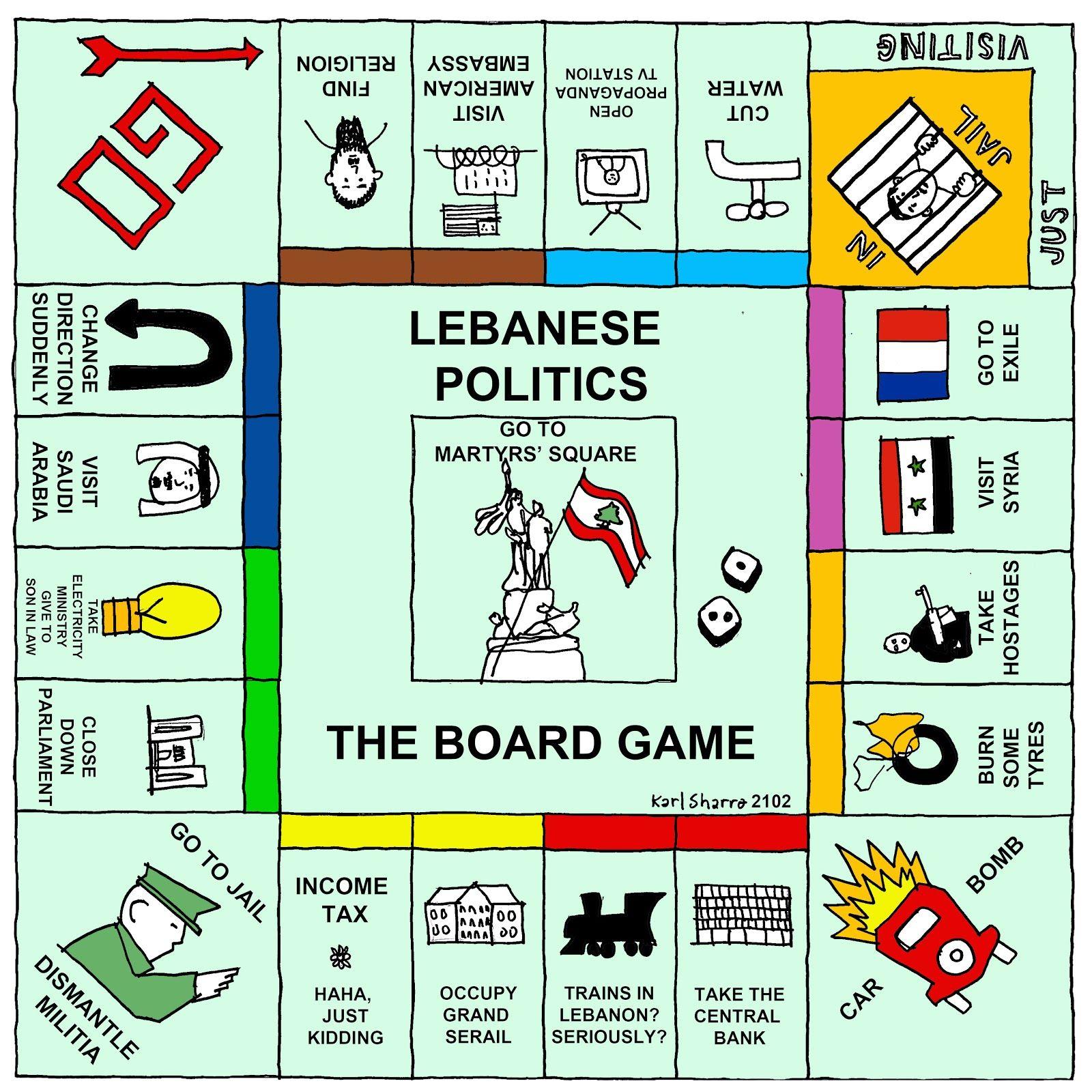 Karl Remarks Lebanese Politics The Board Game
