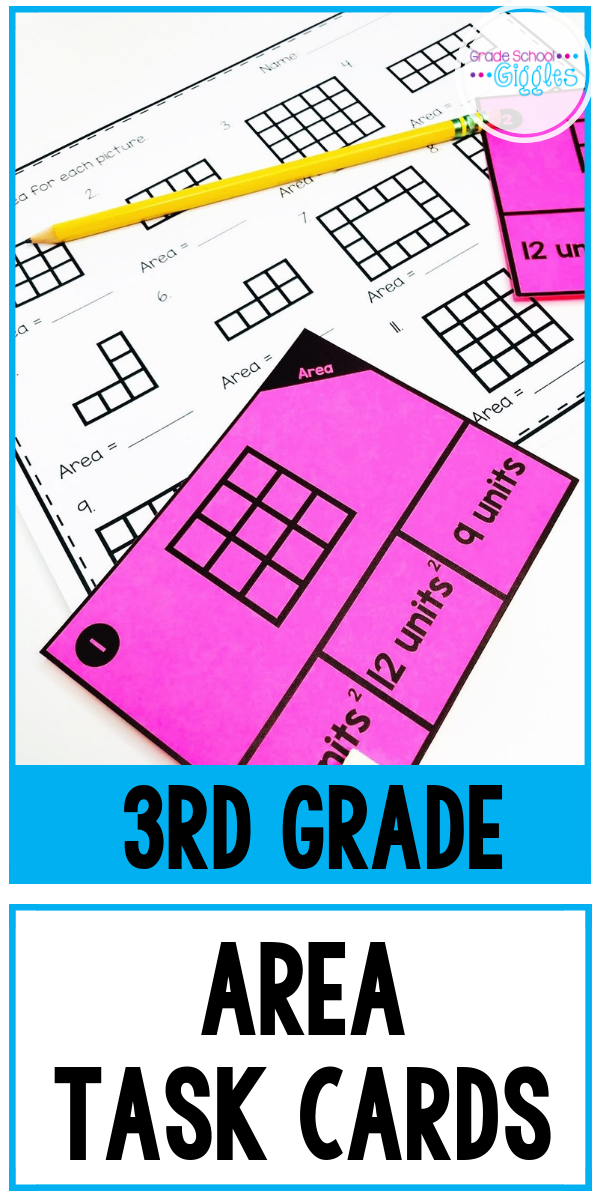 Area Task Cards For Third Grade | Task cards ...