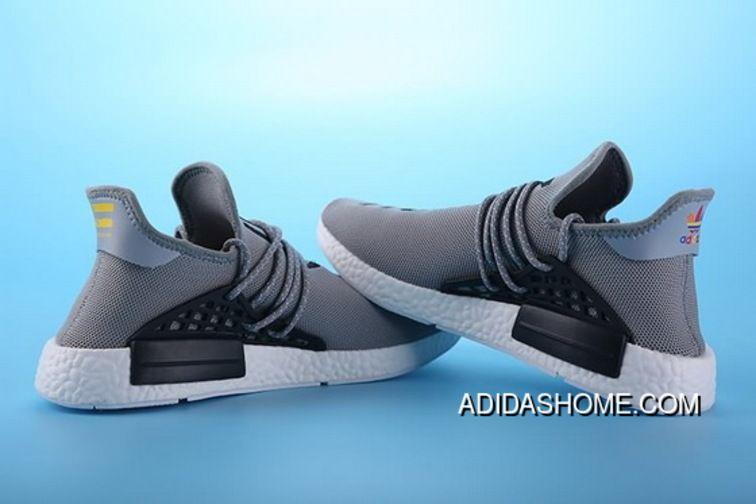 5be80e03a20 Women Men Pharell Williams X Adidas NMD Human Race Running Shoes Grey Black  Latest