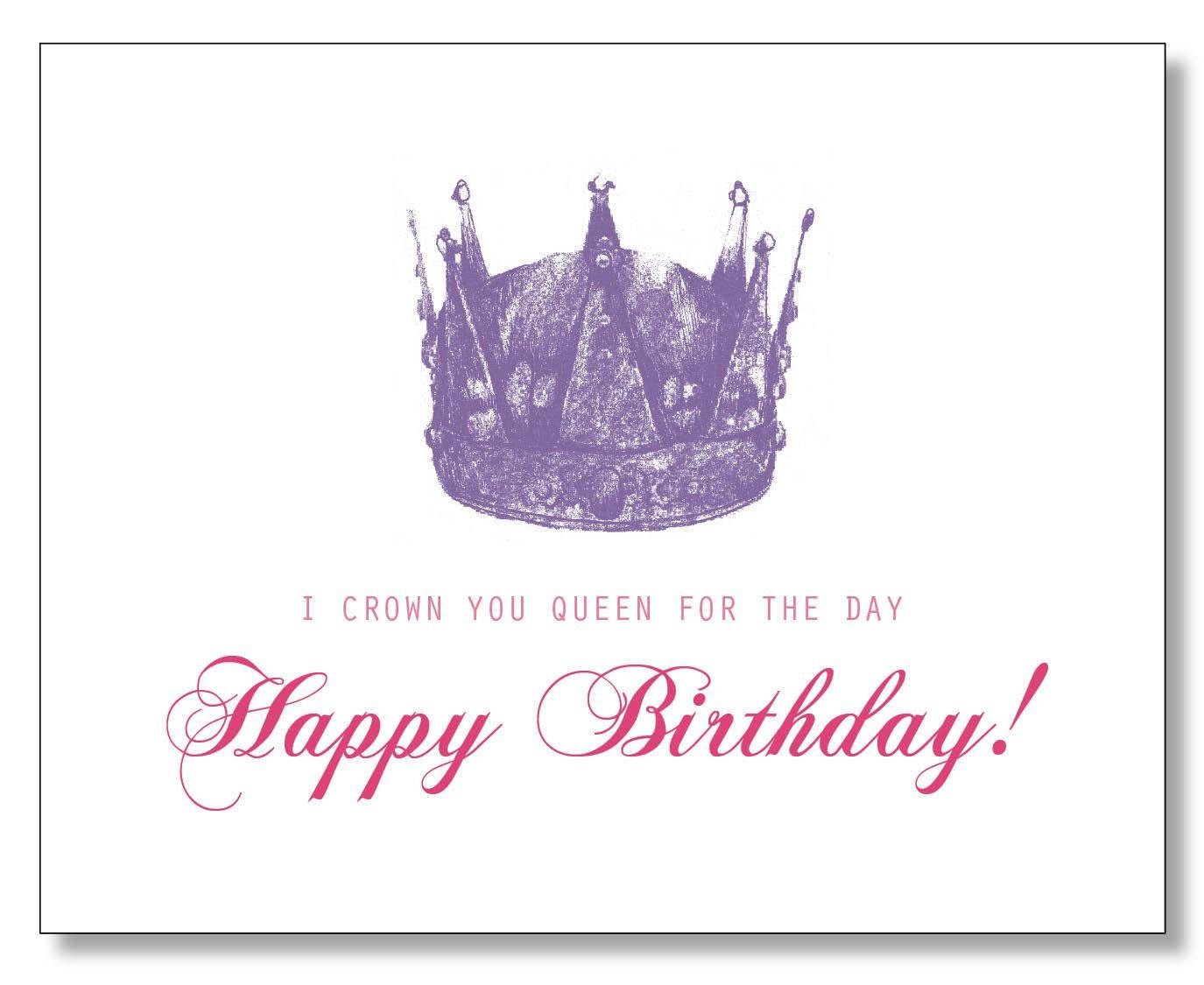 Hilarious Queen Happy Birthday Card Princess Birthday Card Tiara