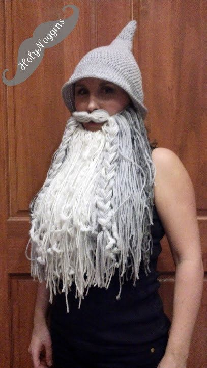 3d79036cfb3 Wizard or Viking Beard Hat by HolyNoggins on Etsy