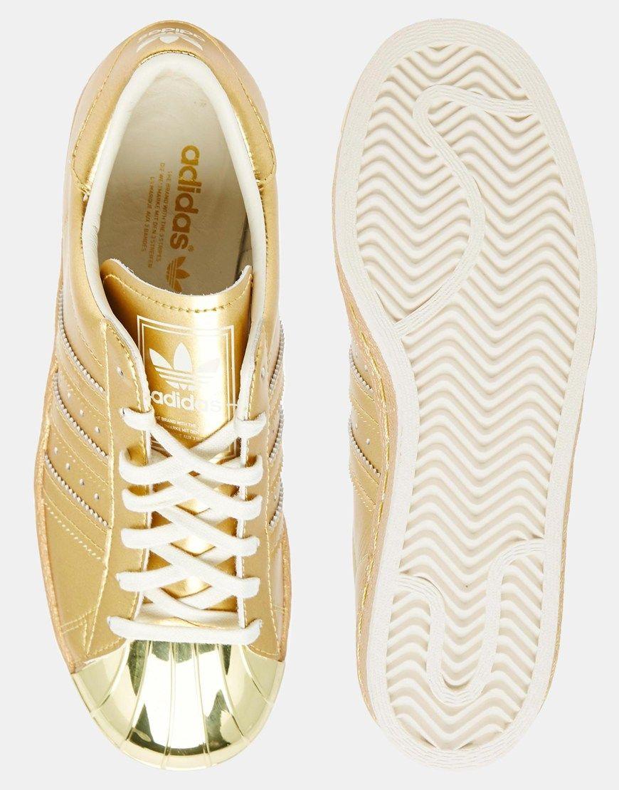 adidas Originals Superstar 80's Gold Metallic Sneakers