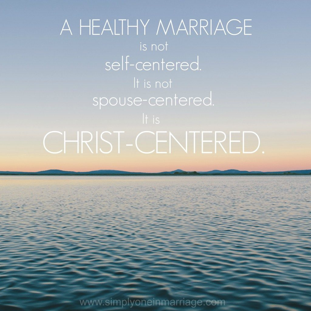 A healthy marriage is christcentered simply one