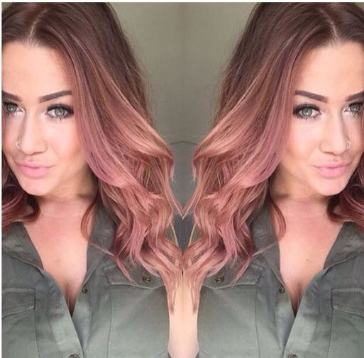 rose gold hair beauty in 2018 pinterest cheveux. Black Bedroom Furniture Sets. Home Design Ideas