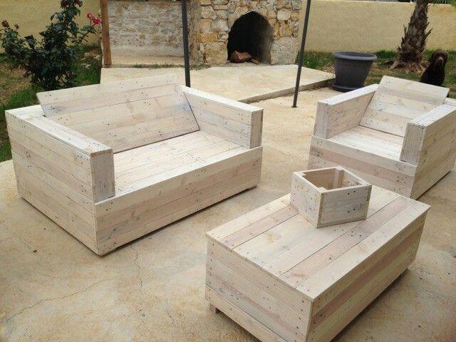 Salon de jardin en palette | Home | Pallet Furniture, Woodworking ...