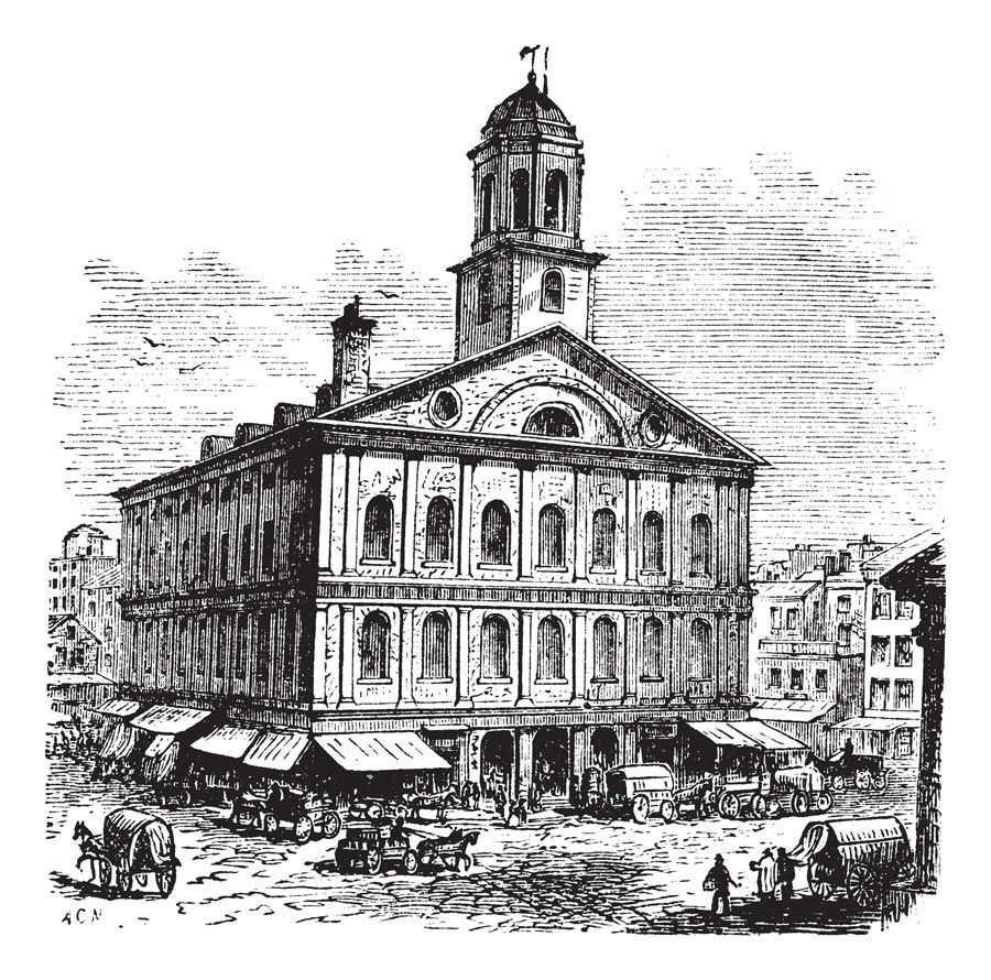 The History of Faneuil Hall Quincy market, Great places