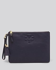a08c8fb0b5 Tory Burch Pouch - Thea Zip Wristlet | leather | Wallet, Pouch, Leather