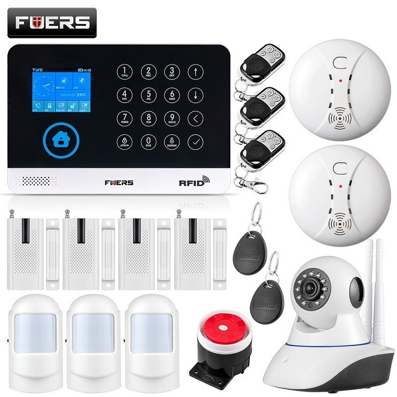 Fuers Wg11 Wifi Gsm Wireless Home Business Burglar Security Alarm System App Control Siren Rfid Gsm Alarm System Alarm Systems For Home Smart Home Alarm System
