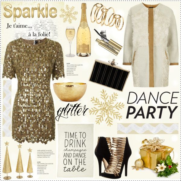 """""""Winter Dance Party: Gold Edition"""" by helenevlacho on Polyvore"""