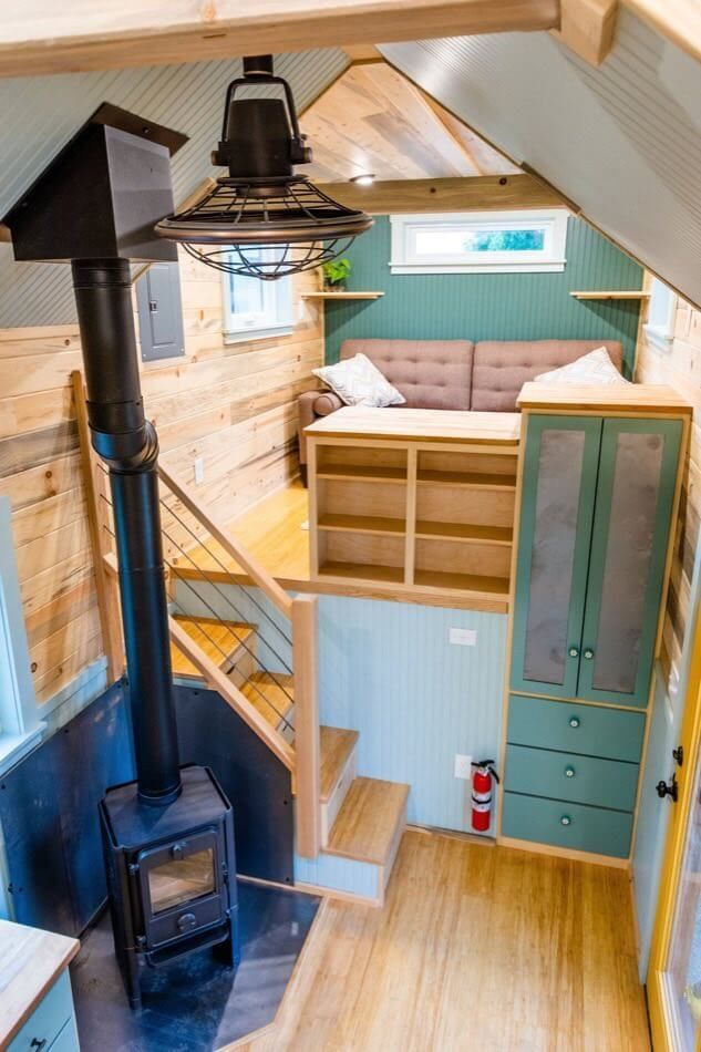 Carrie's 28ft Gooseneck Tiny Home #tinyhome 28ft by 8ft Gooseneck Tiny House by Mitchcraft Tiny Homes Carries THOW MitchcraftTinyHomes-com #tinyhomes