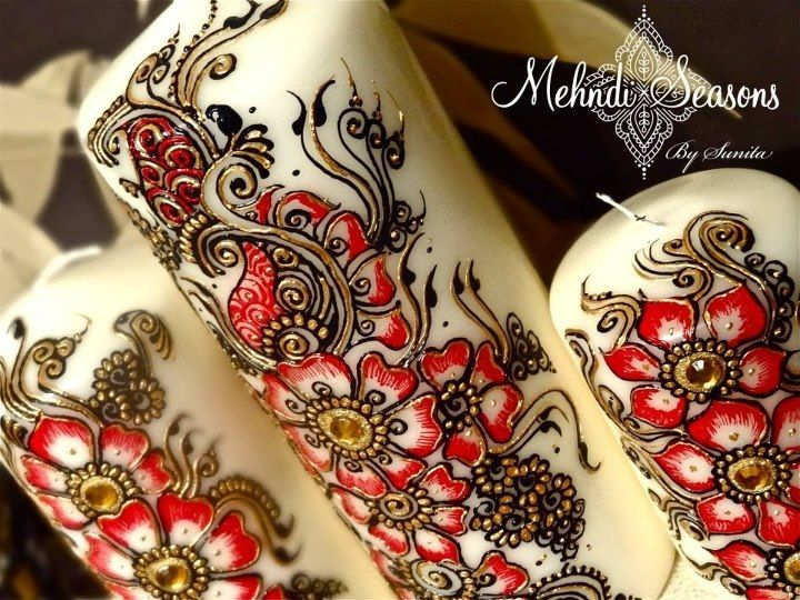Mehndi Thaals Uk : Large mehndi thaal with decorated mirrors £ picclick uk