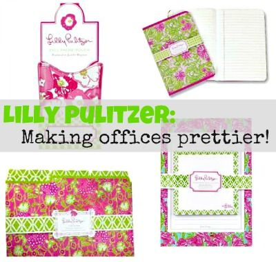 Lilly Pulitzer Office Supplies Make Any Space Prettier! From @Laurie Noel  Meek