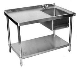 Work Table With Sink Laundry Room Ideas Stainless Steel Work