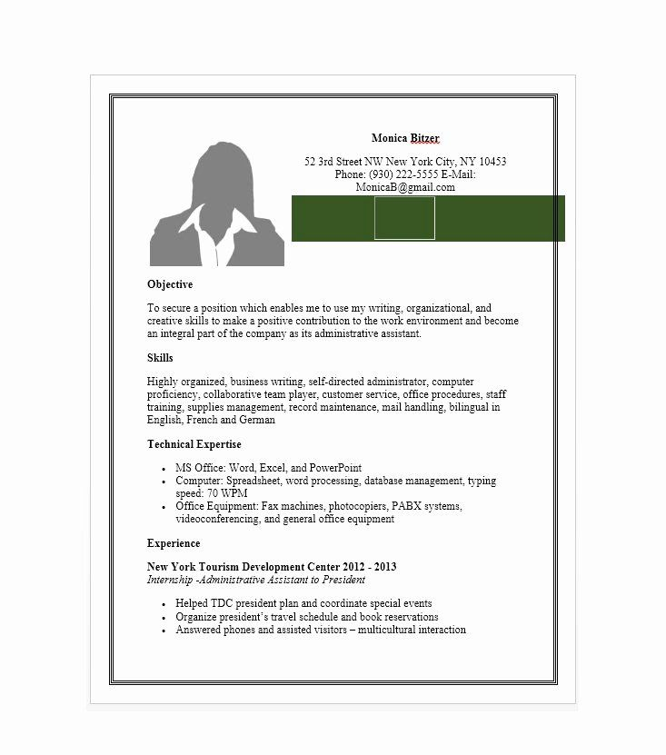 Administrative assistant resume template lovely 20 free